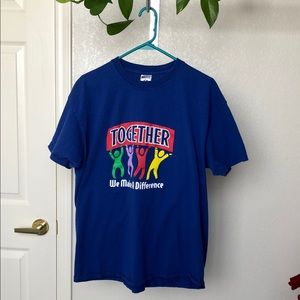 Vintage 90's Together We Make a Difference Tee